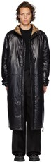 Kassl Editions Black Nylon Below The Knee Puffer Coat 4148211
