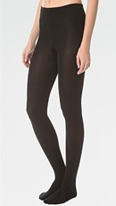 Plush Fleece Lined Tights Black