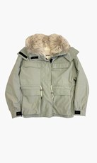 Yves Salomon | Short Fox Parka - Mercury/Platunium