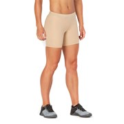 2XU Game Day 5 Inch Womens Compression Shorts - Beige/Silver