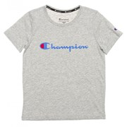 Champion Script Kids T-Shirt - Oxford Heather