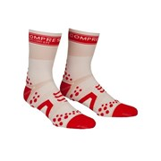 Compressport V2 Cycle Socks - White/Red