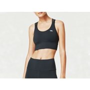 Running Bare WOMENS LOTUS TRIO LONG LINE SPORTS BRA ONIX