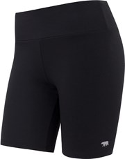 Running Bare Womens High Rise Bike Tight - Black