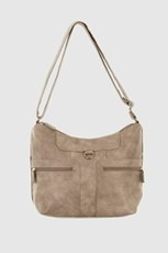 CABRELLI D RING LARGE CROSSBODY BAG Taupe
