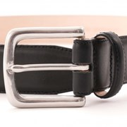 None Of The Above Leather Belt - Black - Made in England