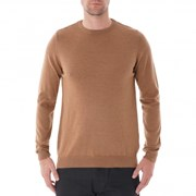 None Of The Above Soft Merino Wool Crew Neck - Camel