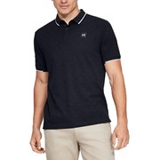 Under Armour Ace Novelty Triangle Golf Polo Shirt - Black