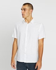 Assembly Label Casual Short Sleeve Shirt White