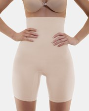 B Free Intimate Apparel Underbust Slim Body Shaping Shorts Ivory