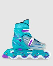Crazy Skates 148 Adjustable Inline Teal Glitter
