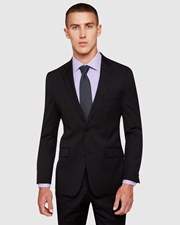 Oxford New Hopkins Wool Suit Jacket BLACK