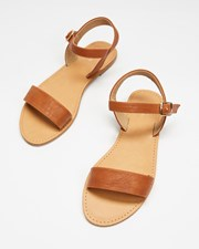 SPURR Tessa Sandals Tan Smooth