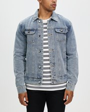 Staple Superior Denim Trucker Jacket Blue
