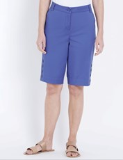 W.Lane Button Detail Short cobalt