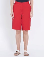 W.Lane Button Detail Short red