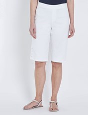 W.Lane Button Detail Short white