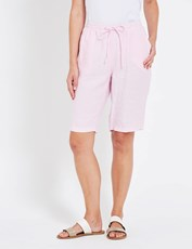W.Lane Linen Short BLUSH