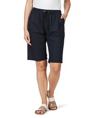 W.Lane Linen Short FRENCH NAVY