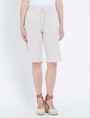 W.Lane Linen Short MICRO STRIPE