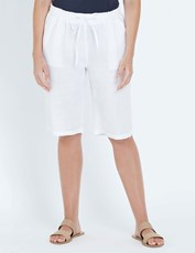 W.Lane Linen Short WHITE