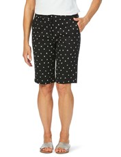 W.Lane Palm Print Short BLACK