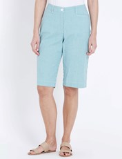 W.Lane Pinstripe Short JADE