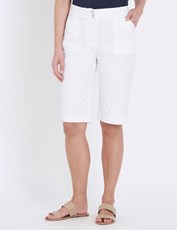 W.Lane Pocket Detail Short WHITE