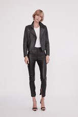 West 14Th The New Yorker Motor Jacket Worn In Charcoal Leather