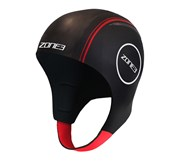 Zone3 Neoprene Swimming Cap Black/Red