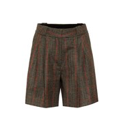 Blaze Milano Fell checked wool shorts green P00480886