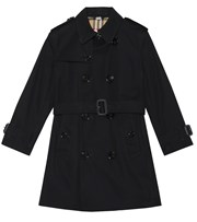 Burberry Kids Mayfair cotton trench coat black P00366620