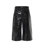 Dodo Bar Or Croc-effect leather Bermuda shorts black P00456444