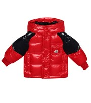 Moncler Enfant Baby Biarriz quilted down coat red P00409677