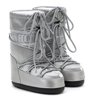 Moon Boot Kids Metallic nylon snow boots silver P00525247