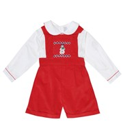 Rachel Riley Baby cotton playsuit red P00507751